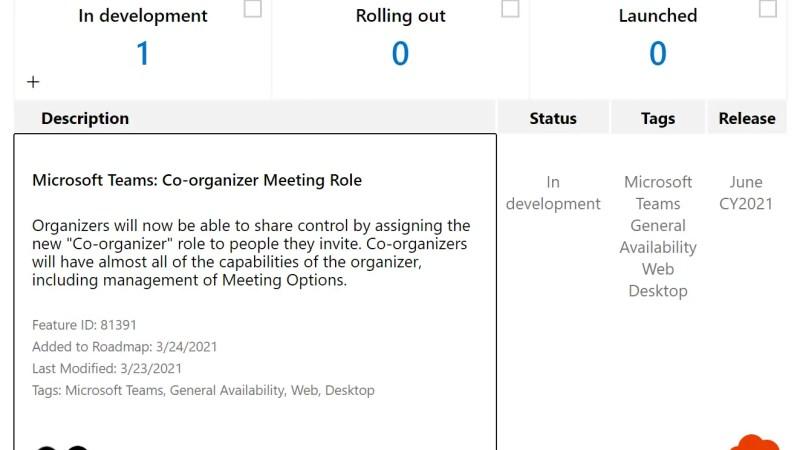 Microsoft Teams: rol van medeorganisator bij vergaderingen