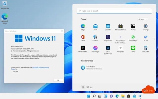 Windows 11 21H2 OS Build 22000.194