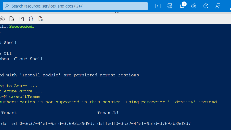 Azure Cloud Shell komt naar Microsoft Teams Admin Center