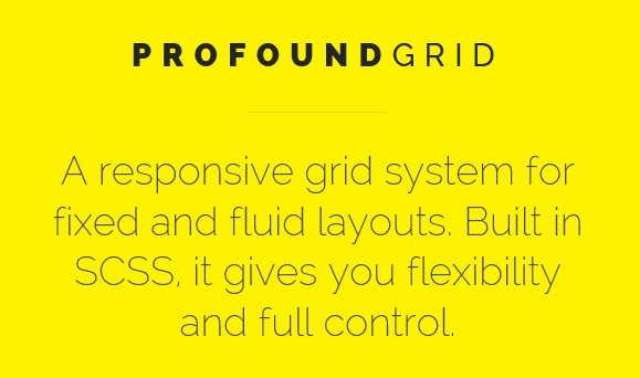 Profound Grid - Responsive Grid System For Fixed and Fluid Layouts