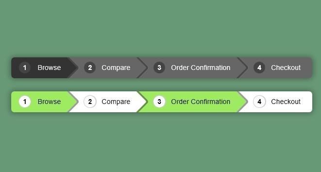 Pure CSS3 Breadcrumbs Navigation