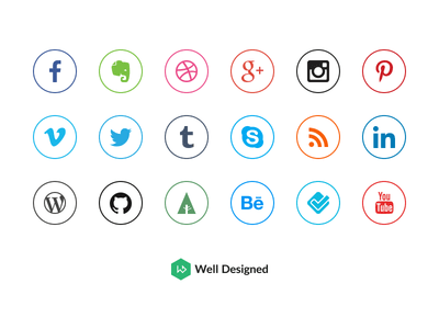 20 Social Media Icon