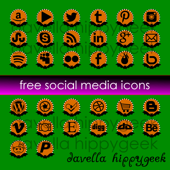 32 Free Halloween Bat Social Media Icons