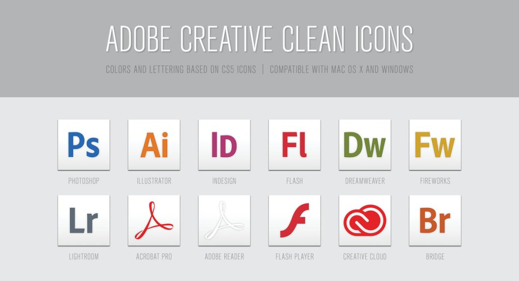 Adobe Creative Clean Icons
