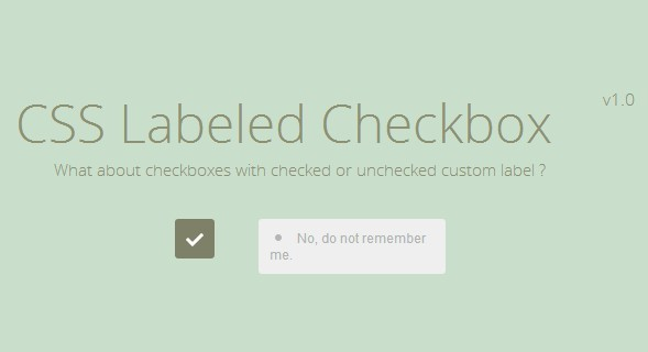 CSS Labeled Checkbox