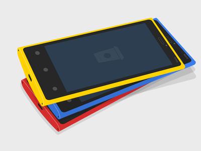 Flat NOKIA Lumia 920 3D MockUp