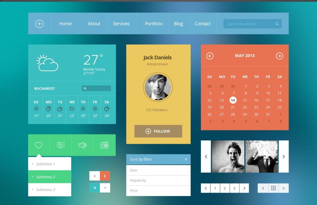 Flat UI Kit Based On Twitter's Bootstrap - PixelKit