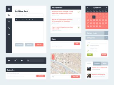 Freebie PSD Flat UI Kit 2 (Blog)