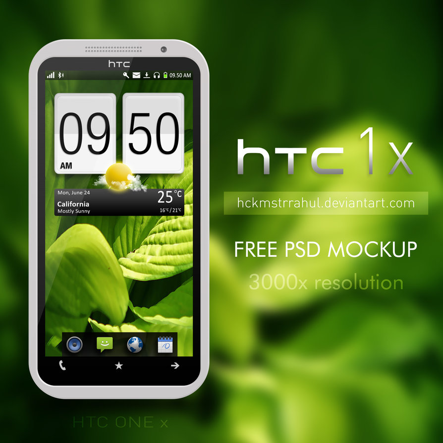 HTC One-X PSD Mockup