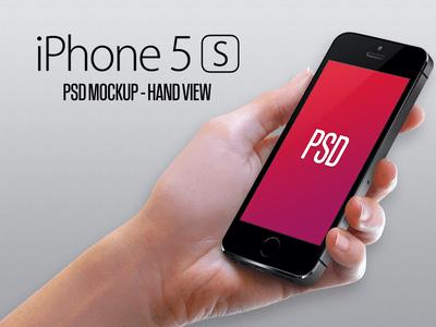 Iphone 5S Mockup - Hand PSD