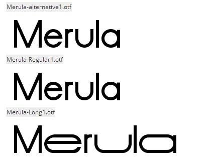 Merula font