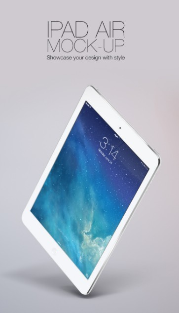 New iPad Air 2013 Free Vector Layerd PSD Mock-up