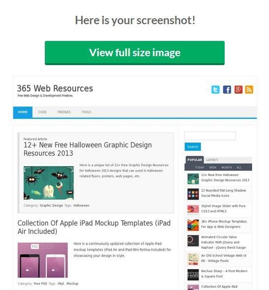Online Website Screen Capture Tool - doCapture