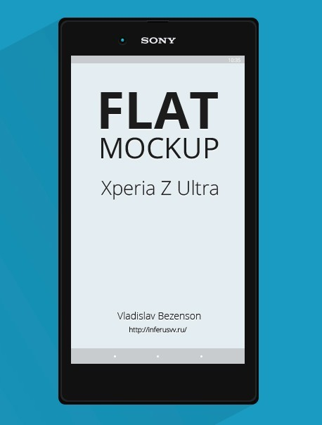 Sony Xperia Z Ultra Mockup PSD