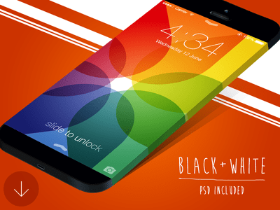 Wide iPhone Mockup (PSD)