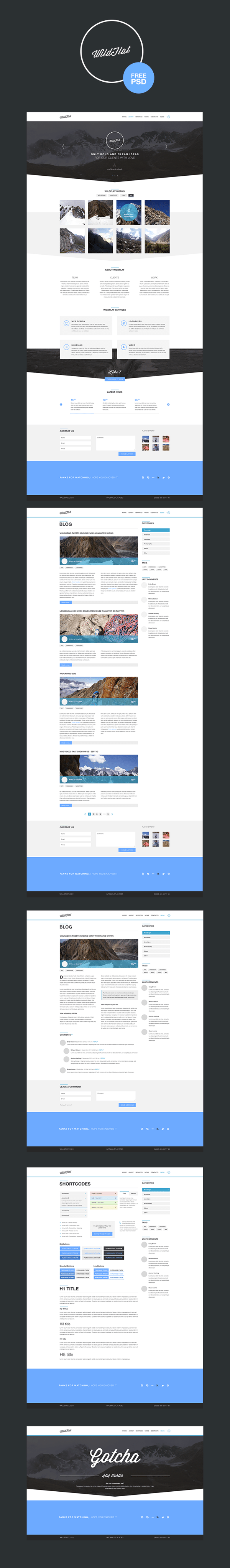 WildFlat - Free Psd Template