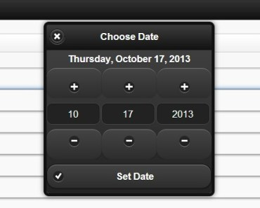 jQuery Date and Time Picker Plugin for jQuery Mobile - DateBox