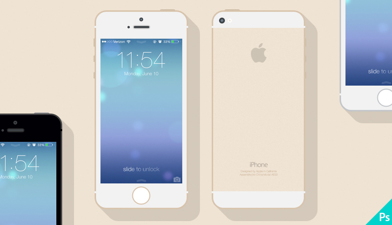Freebie iPhone 5s Mockup
