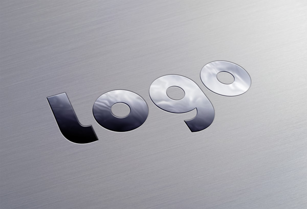 Metallic Logo PSD MockUp
