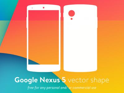 Nexus 5 Vector Shape