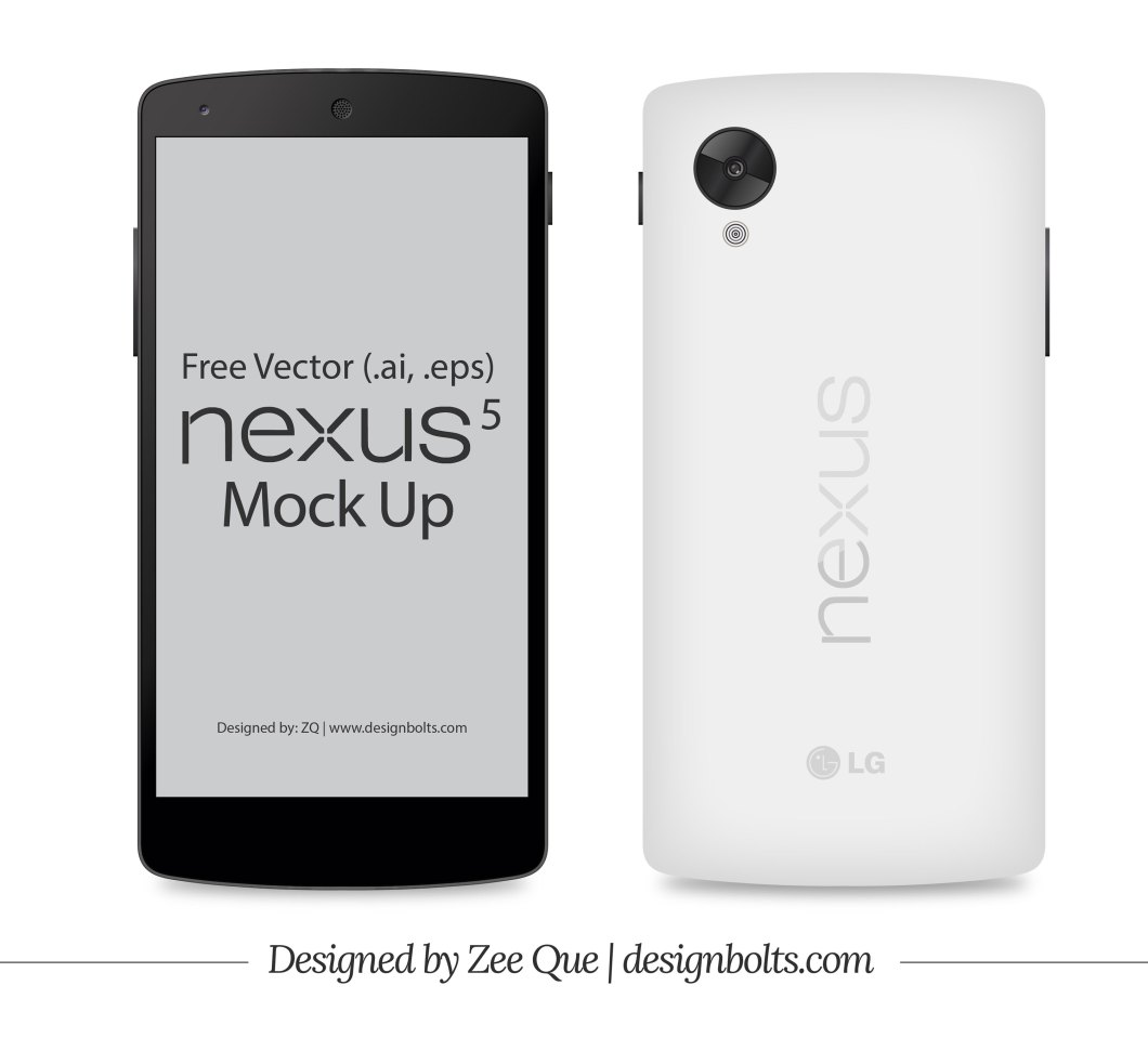 Vector Google Nexus 5 Mockup in Ai & EPS Format