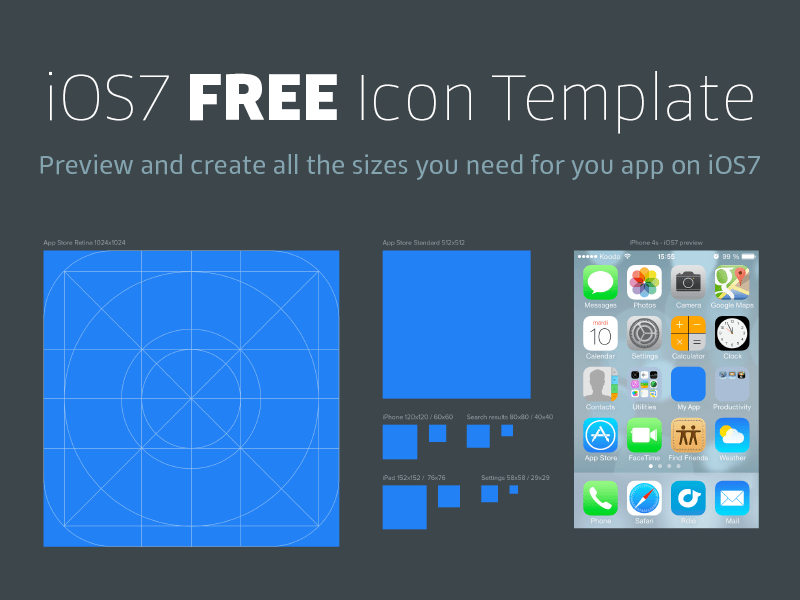 iOS7 Icon Template