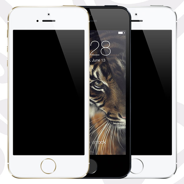 iPhone 5s ( Gold - Black - Silver ) [PSD]