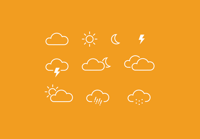 10 WEATHER ICONS