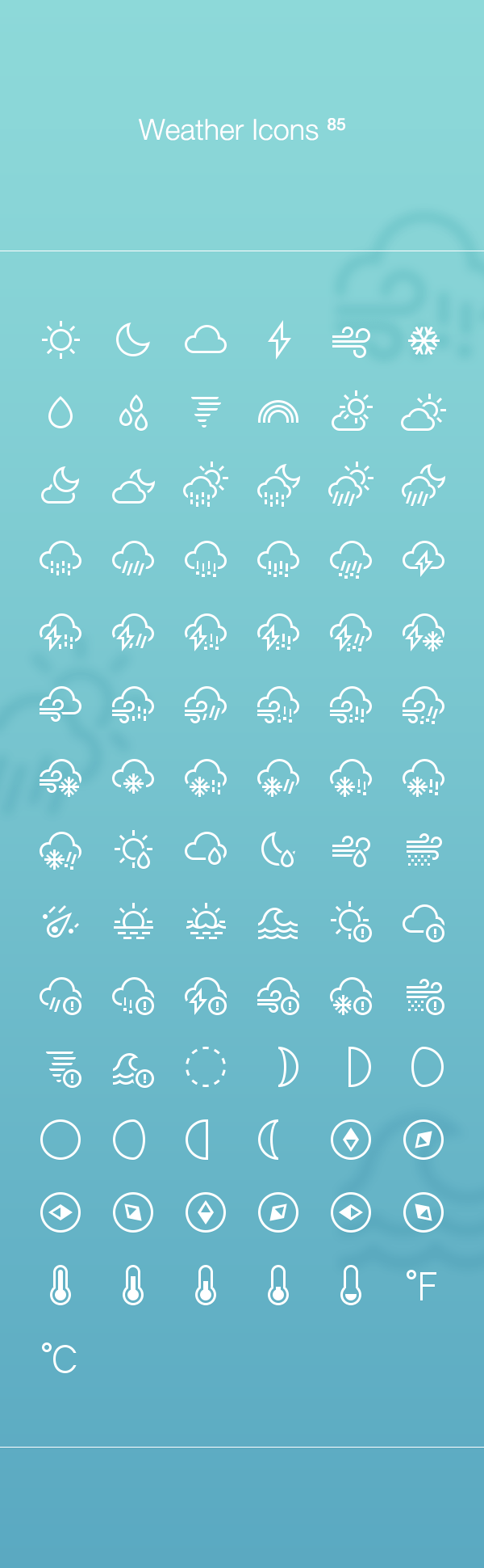 85 FREE Weather Icons