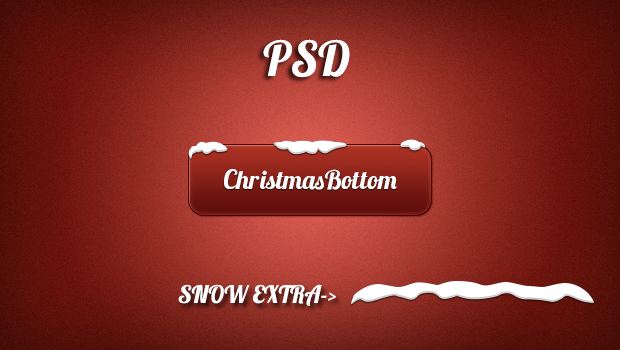 Christmas Button PSD