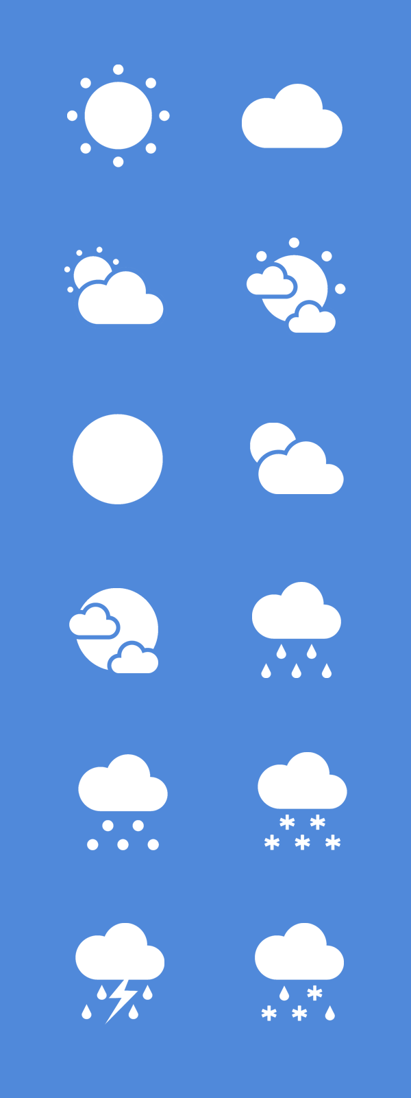 Flat Weather Icon Set
