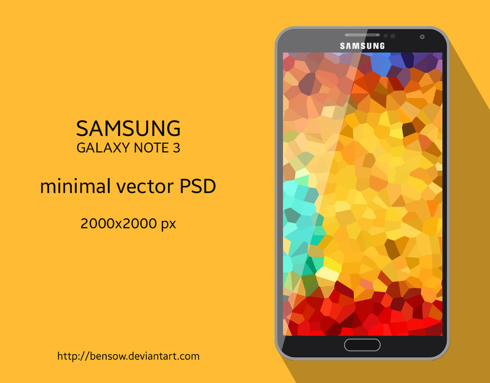 Galaxy Note 3 Vector PSD