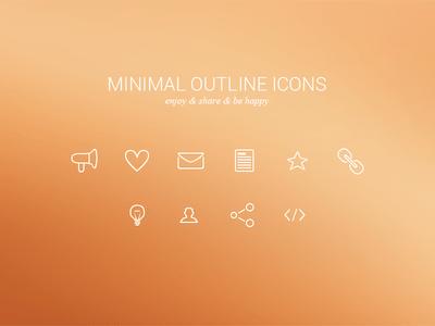 Minimal Outline Icons Freebie