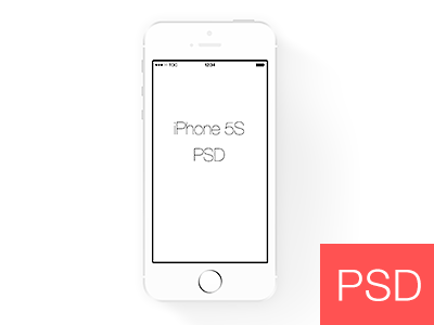 Simple White Iphone 5s Frame