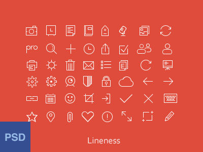 Thin Line Icon Set