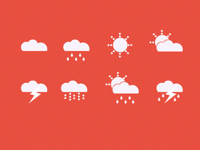Weather Icons + psd