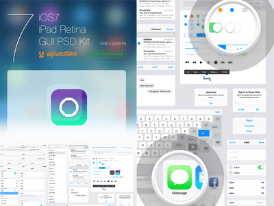 iOS7 iPad GUI Template