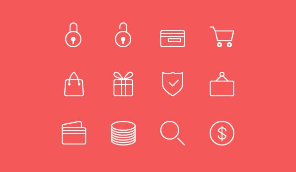 24 Ecommerce Line Icons