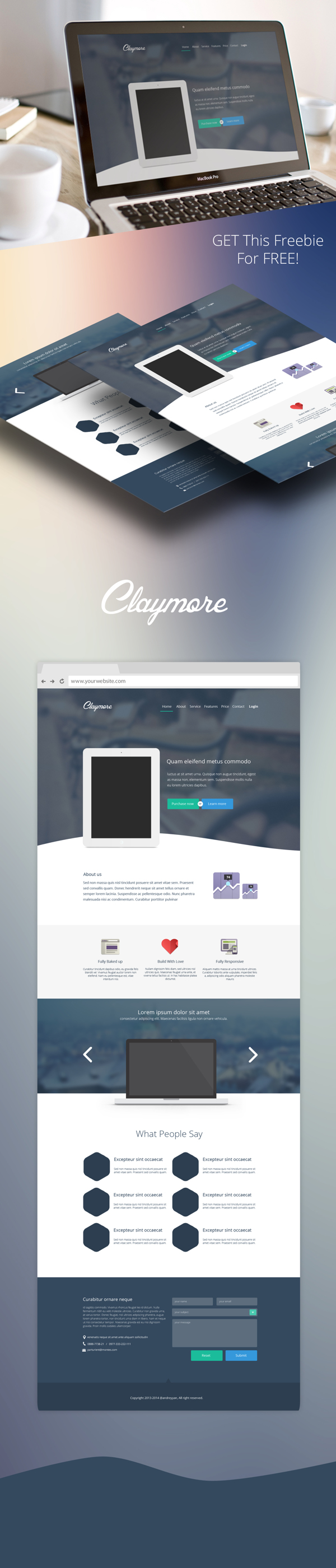 Claymore - App Landing Page