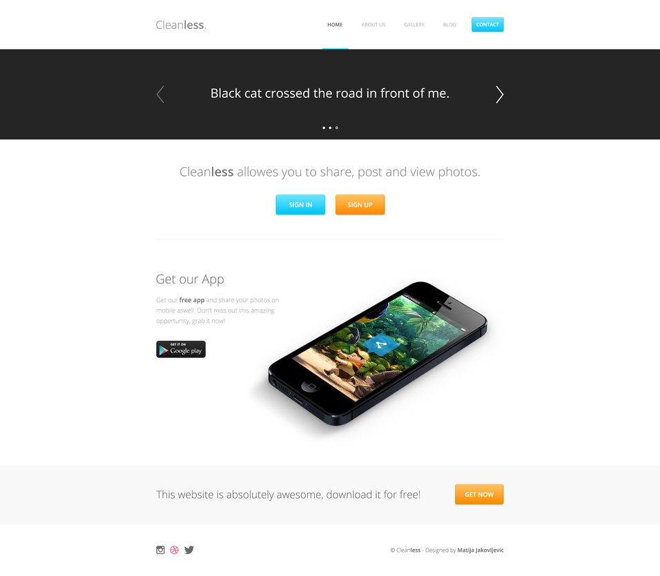 Cleanless - FREE PSD TEMPLATE