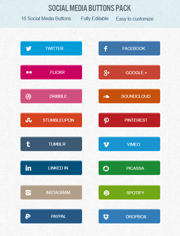 FREE Social Media Buttons