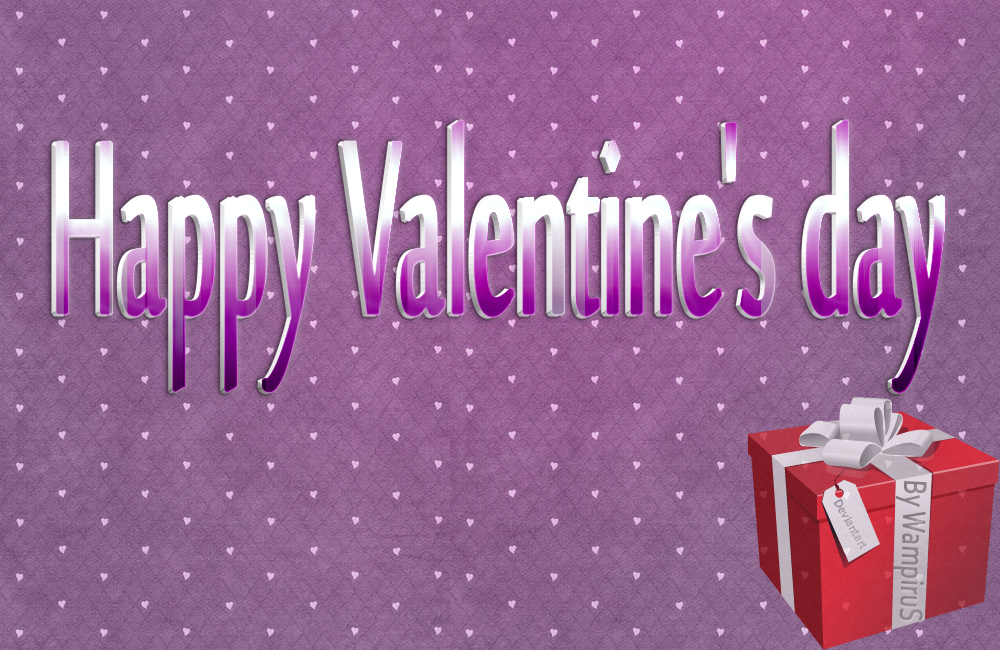 3D Valentine's day Text Effect