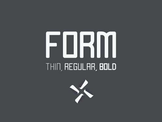 All Caps Form Typeface
