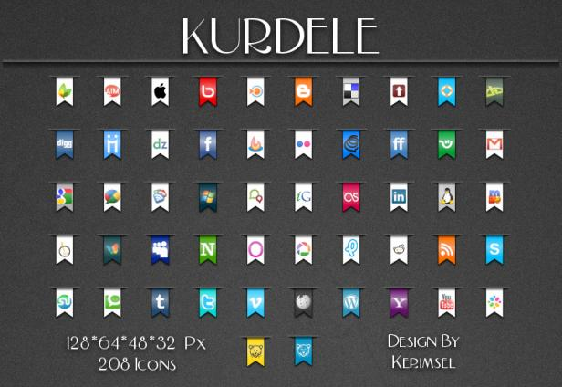 Free Ribbons Social Media Icons