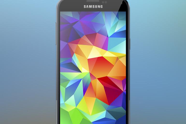 Freebie PSD Samsung Galaxy S5