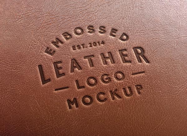 Leather Stamping Logo MockUp 2