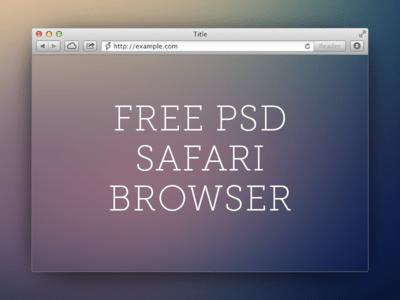 My safari browser PSD template