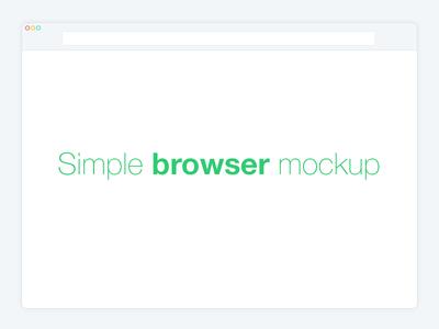 Simple Browser Mockup