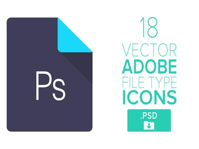 18 Adobe File Type Icons