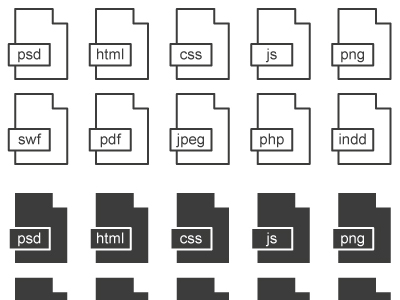 Minimal Black & White File Icons